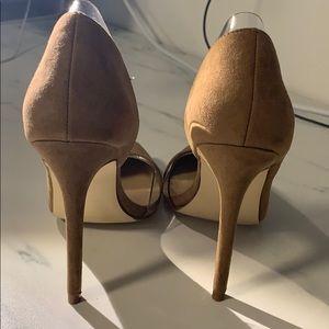 Shoe Dazzle Shoes - New - Tan Suede stiletto heels size 5.5